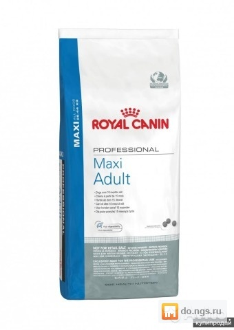 Корм royal canin professional maxi sensible